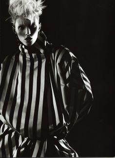 "Vogue Nippon July 2009 ""Into the Light"" Models: Anja Rubik & Baptiste Giabiconi Photographer: Karl Lagerfeld Styling: George Cortina"