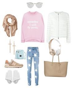 """""""Untitled #662"""" by raluca-denisat on Polyvore featuring New Balance, Michael Stars, STELLA McCARTNEY, Fendi, LJ Cross, Yves Saint Laurent, Moncler, Beats by Dr. Dre, women's clothing and women's fashion"""