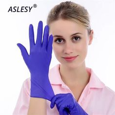 Beauty 100PCS PVC Disposable Gloves Transparent Film Protective gloves for Cooking Tableware M