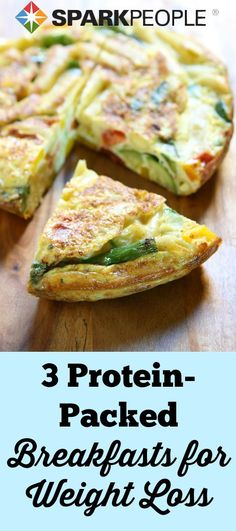 Three High Protein Breakfasts to Boost Weight Loss. Protein in the morning can help stave off hunger throughout the day.  | ia @SparkPeople