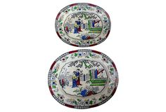 19th-C. Chinoiserie Platters, Pair on OneKingsLane.com