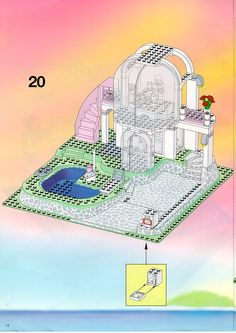 Thousands of complete step-by-step printable older LEGO® instructions for free. Here you can find step by step instructions for most LEGO® sets. Lego Instructions, Step By Step Instructions, Lego Sets, Taj Mahal, Display, Floor Space, Lego Games, Billboard