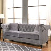 The timeless design of this sofa will add elegance and style to your living room. With its velvet upholstery, tufted seat and silver nailhead trim, this neutral tone piece is easy to pair with both modern and traditional decor. Living Room Upholstery, Upholstery Cushions, Furniture Upholstery, Pallet Furniture, Upholstery Tacks, Upholstery Cleaning, Pallet Sofa, Grey Velvet Sofa, Velvet Tufted Sofa