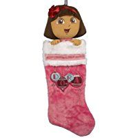 Kurt Adler Dora the Explorer Dora Plush Head Stocking, Dora Toys, Stocking Holders, Dora The Explorer, Christmas Stockings, Merry Christmas, Plush, Holiday Decor, Character, Home Decor