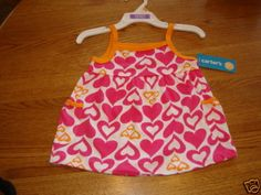 Carter's pullover tank top infant baby girl NWT 12 Month pink flowers shirt^^