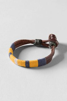 Dean wants a bracelet, maybe this Boys Leather Bracelet from Lands End