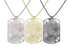 Urban Dog Tags: Wear City Grids Around Your Neck