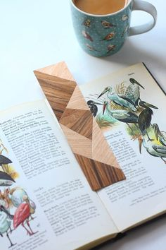 Faux Marquetry Wood Bookmark DIY Tutorial
