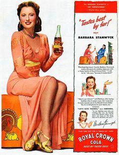 Barbara Stanwyck for Royal Crown Cola (1944)