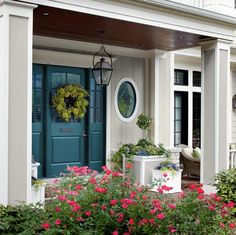 Front Door Color For Teal House. The Blue House: Teal Front Door. Painted Doors, House Front, House Exterior, Exterior House Colors, Front Door, Exterior Doors, House Painting, Doors, Exterior Door Colors