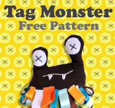 Tag Monster Pattern.  so cute!