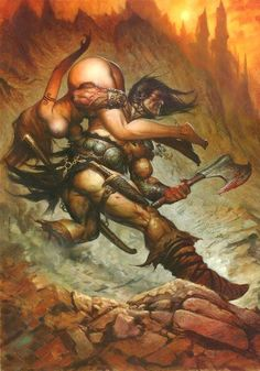 Greg Staples: Conan, in Fredo Le's Greg Staples Comic Art Gallery Room Conan The Conqueror, Conan Comics, Conan The Barbarian, Sword And Sorcery, Fantastic Art, Awesome, Fantasy Artwork, Comic Books Art, Dark Fantasy