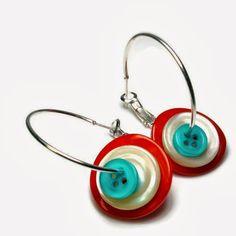 BluKatKraft: Vintage Button Necklace, Button Jewelry - DIY Jewelry