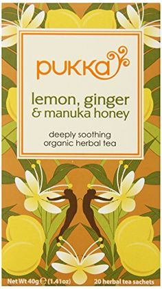 Pukka Organic Tea Lemon ginger and Manuka Honey 20 Count Pack of 6 *** Find out more about the great product at the image link. Note: It's an affiliate link to Amazon.