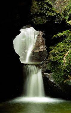 GARDEN: garden with waterfall