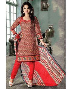 Unstitched Kurta Set redDeepanjali2109