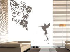 Bird wall decal, nature wall decal, bird wall decal, holiday gift, flower wall sticker, bird, home decor,Tree