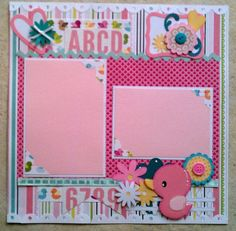 baby girl scrapbook layouts | Baby Girl Toddler premade scrapbook layout page by ohioscrapper, $15 ...