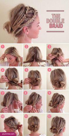 step by step hairstyles for medium length hair 2015 http://www.yoummisr.com/step-step-hairstyles-medium-length-hair-2015/