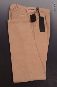 KITON Napoli Beige Corduroy Cotton Jeans Pants NEW US 33 Slim Fit ModUPNJ2P