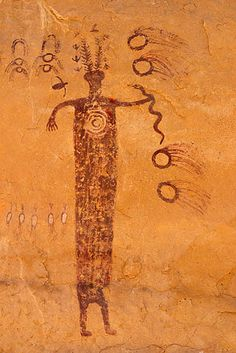 San Rafael Swell, SE Utah Meteor Shaman Snake in hand Native Art, Native American Art, Ancient Aliens, Ancient History, European History, American History, Objets Antiques, Kunst Der Aborigines, Cave Drawings