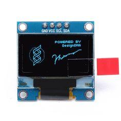 0.Módulo de visualización i2c CII 4 pines azul o LED 96 pulgadas para arduino