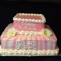 Birthday cake pink.