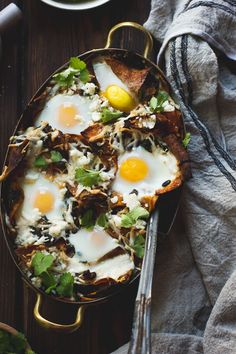 Baked Chilaquiles with Black Beans and Kale
