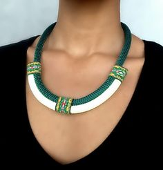 Collier Vert Amazon collier ethnique par VChristinaCollection