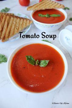 November 2019 – Ruchi's Veg Kitchen Quick Tomato Soup, Tomato Soup Recipes, Vegetarian Nachos, Vegetarian Recipes, International Food Day, Grilled Veggies, Warm Food, Vegan Soup, November 2019