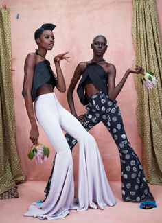 Maria Borges and Ajak Deng in Africa Rising for Models.com