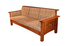 Amish made in Indiana. Heirloom Quality Mission / Arts and Crafts Sofa Solid Quarter Sawn White Oak sofa frame Upholstered in Paisley. Furniture, Affordable Furniture, Porch Furniture, Arts And Crafts Furniture, Ashley Furniture Sofas, Small Bedroom Furniture, Home Decor, Oak Sofa, Furniture Design