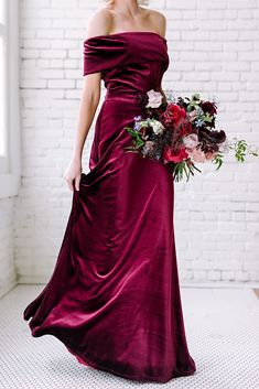 Court Velvet Dress Revolutionizing wedding dress & bridesmaid dress shopping by making it fun & easy. Try on our gorgeous gowns in your size, at home, with your friends Wedding Dress Types, Wedding Attire, Velvet Bridesmaid Dresses, Velvet Dresses, Velvet Wedding Dresses, White Velvet Dress, Bridesmaid Kit, Wedding Bridesmaids, Evening Dresses