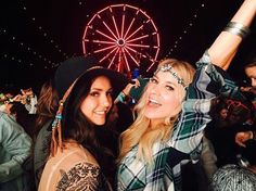 coachella, Nina Dobrev, and friends image