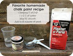 SunflowerHugs: My Version of DIY Chalk Paint
