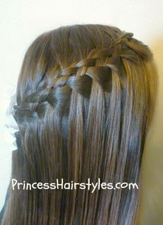 Five strand waterfall braid!