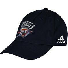 81979e8d8e8 adidas Oklahoma City Thunder Navy Blue Basic Logo Adjustable Hat- by  adidas.  19.95. Quality embroidery. Six panels with eyelets. Unstructured  fit.