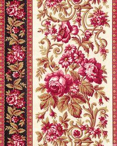 eQuilter Kaffe Fassett's Quilts in the Cotswolds Floral Border, Floral Motif, Floral Prints, Lace Border, Decoupage Vintage, Pattern Art, Pattern Design, Print Patterns, Molduras Vintage