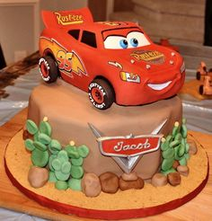 Lightning McQueen 3D Edible Image Cake Stickers by ABCedibleprints, $16.99
