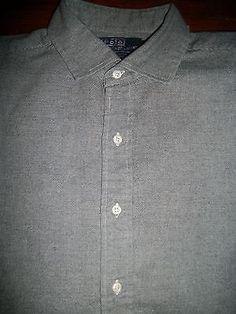 Ralph Lauren Westerton Men's Size XL Long Sleeve Button Front Shirt Cotton Pony