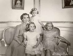 The Royal Watcher:  Queen Ingrid with her daughters Princesses Benedikte, Anne-Marie, and Margrethe