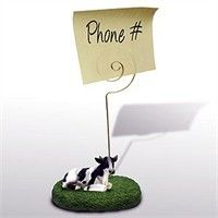 Cow Note Holder (Holstein Bull): This magnificent Holstein Bull Note Holder will make sure that you… #PetProducts #PetGifts #AnimalJewelry