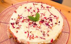 White Chocolate and Rose Infused Cheesecake Recipe