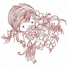 Girl's birthday 3 machine embroidery design. Machine embroidery design. www.embroideres.com