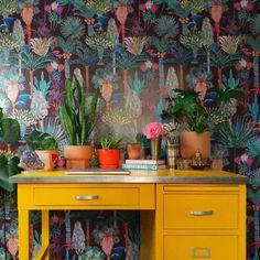 Phoenix Wallpaper, Of Wallpaper, Eclectic Wallpaper, Eclectic Kitchen, Eclectic Decor, Funky Kitchen, Eclectic Furniture, Eclectic Design, Colorful Apartment
