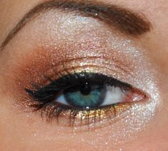 Terracotta eye shadow  is great for blue eyes! Just a little less sparkle for me...