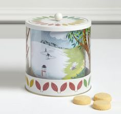 Four Seasons Biscuit Tin with Mini Shortbread - Marks & Spencer Love Decorations, Work Meals, Shortbread, Four Seasons, Barrel, Biscuits, Graphic Design, Christmas, Tins