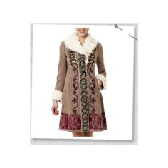 Odd Molly- Swain Tweed Coat- 355- Brown found on Polyvore featuring outerwear, coats, odd molly, brown tweed coat, brown coat and tweed coat