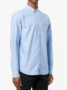 3d51e53f7d0c03 The Tommy Hilfiger Engineered Oxford Shirt In Shirt Blue Men s Long Sleeve  Shirt From Tommy HilfigerClassicly