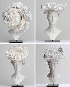 Chanel Paper head pieces from Spring 2009